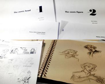 cartoon studies and sketchbook