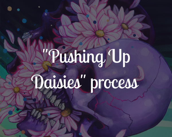 Pushing Up Daisies blog title image