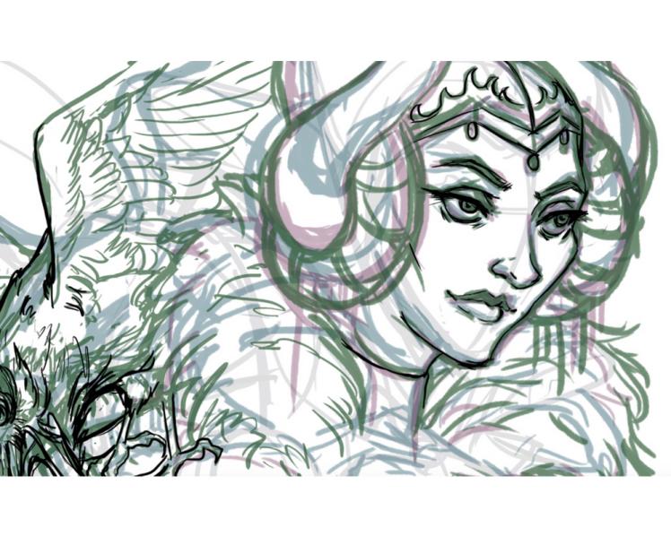 Maleficent digital sketch