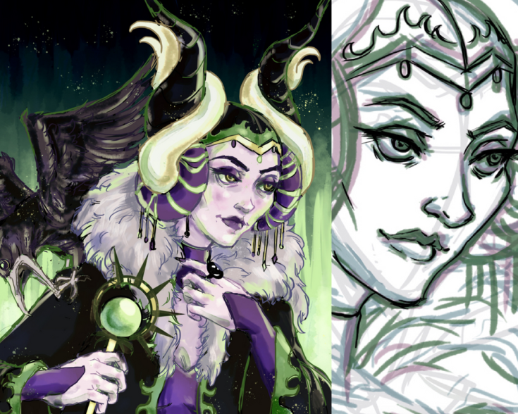 Maleficent digital color study