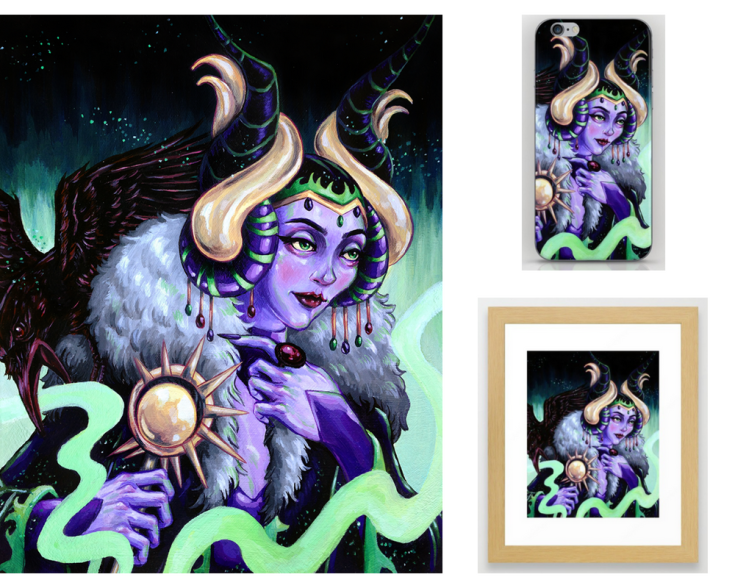Maleficent final image and society6 products