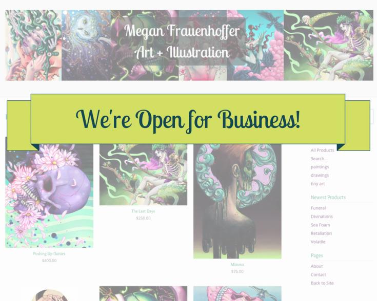 Megan Frau Store Launch!