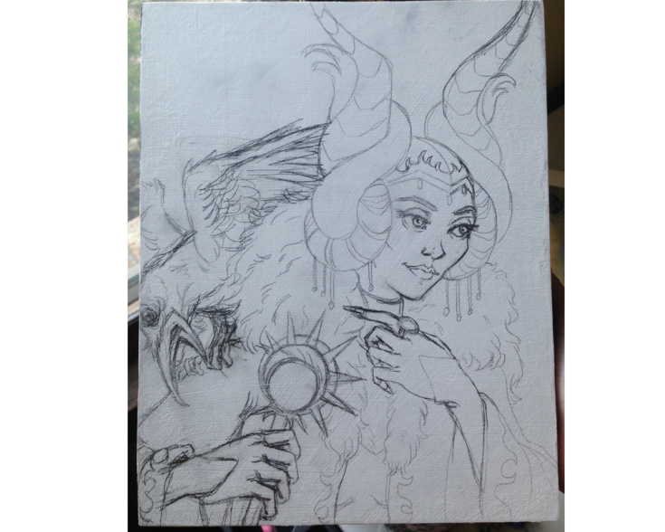 Maleficent sketch transfer
