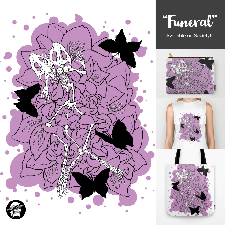 Society6 promotions - funeral