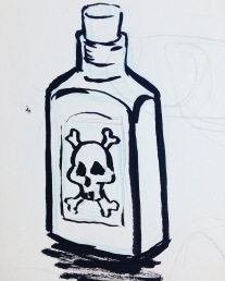 inktober - bottle
