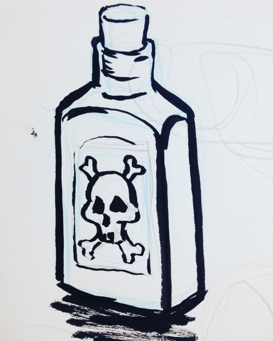 inktober - bottle