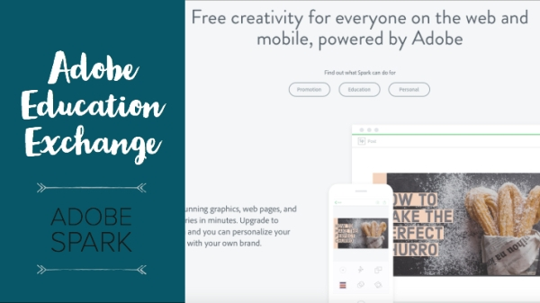 Adobe Education Exchange banner - Adobe Spark