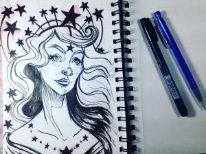Inktober - star