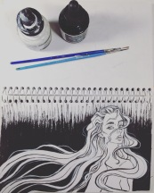inktober -flowing