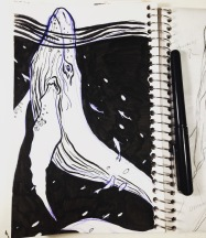 Inktober - whale