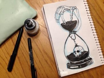 Inktober - clock