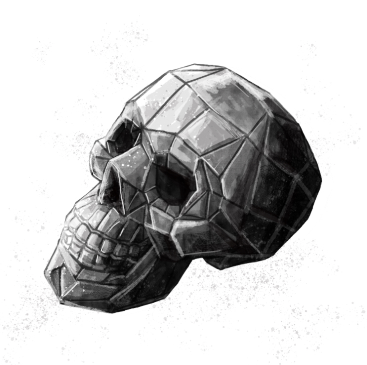 polygon skull sketch (inktober angular)