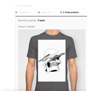 Society6 shirt design resizing