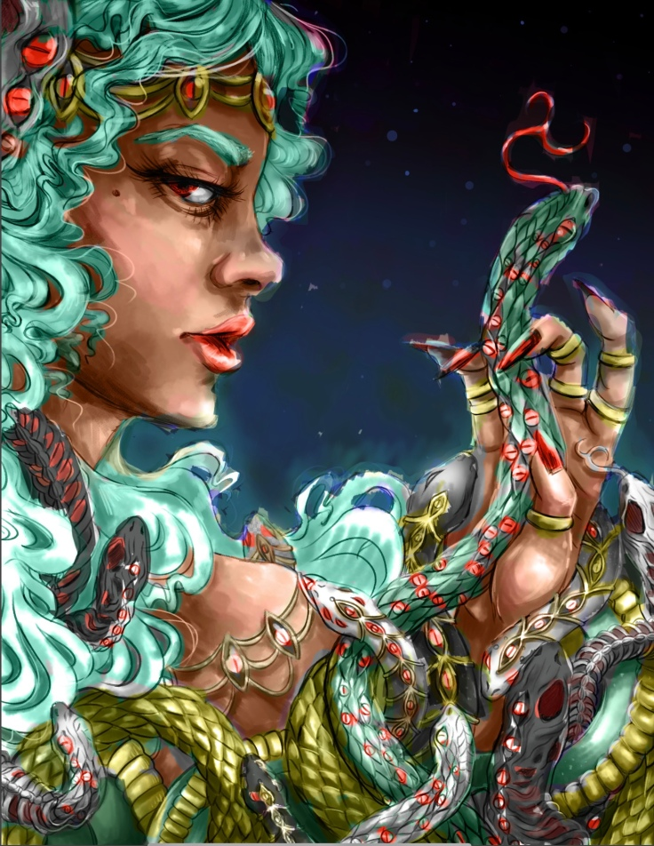 Venus show artwork Megan Frauenhoffer-color study