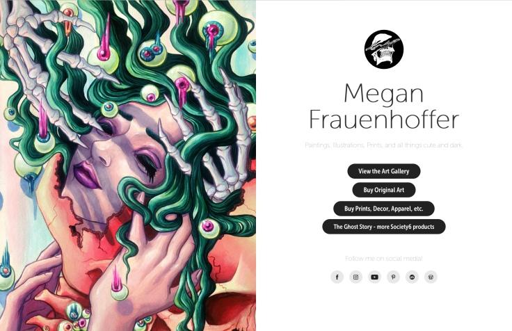 MeganFrau.net splash page
