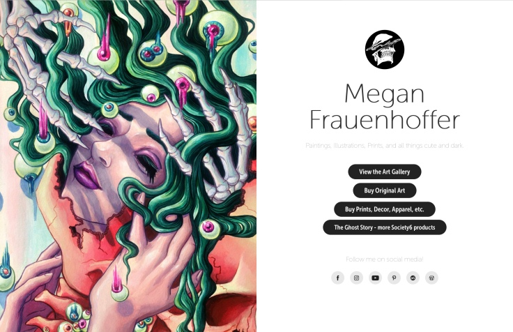 MeganFrau.net splash page
